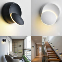 360° Rotation LED Wall Light Round Corridor Lamp Sconce Indoor Outdoor Lighting