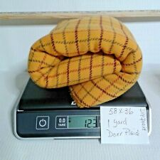 New listing D1Yplaid 1 Yard 12.3 Ozs 100 % Wool Yellow Plaid Dorr Rug Hooking Or Applique