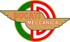 "#k114 4"" Ducati Meccanica Racing Classic Vintage Decal Sticker LAMINATED"