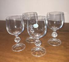 "Bohemia ""Claudia' Crystal Wine Glasses X 4 230ml"