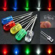 50Pcs 5mm Diodo Rojo/Verde/Azul/Amarillo/Blanco Clear/Color Diffused LED Light