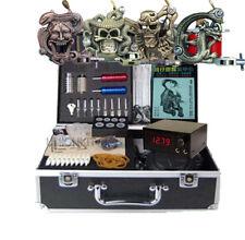 New Complete 4 Tattoo Machine Kit Equipment Power Set Body Tattooing Art Supply