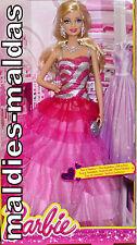 BARBIE Rosa & Fabulous gala in rosa bfw18 Nuovo/Scatola Originale BAMBOLA BARBIE & FRIENDS AMICI