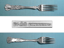 """Gorham Sterling 7 1/2"""" Long Tines Fork (L/A/G) ~ Buttercup ~ No Mono"""