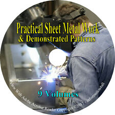 9 Volumes on CD, Practical Sheet Metal Work & Demonstrated Patterns, Books