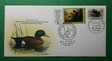 1990 Australia, Chestnut Teal $5 Duck Stamp Overprint, Fdc