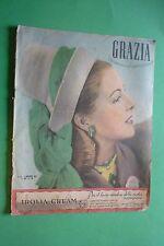 MAGAZINE GRAZIA 350/1947 MODA MICHELE MORGAN LAURA ELVIRA ROSSI DA TORTONA