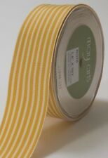MAY ARTS RIBBONS~GROSGRAIN STRIPE~BUTTERSCOTCH & IVORY~1.5 INCHES X 1 YARD!