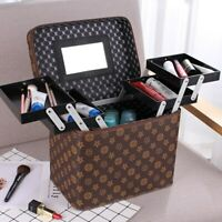 Large Capacity PU Leather Cosmetic Bag Cosmetic Multilayer Storage Box Suitcase