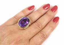 $28500 Vintage Tiffany &Co Picasso 18K Gold Amethyst Diamond Ring Size 6.5 w/box