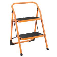 New 2 Step Ladder Lightweight Folding Non-Slip Step Stool 330Lbs Load Yellow