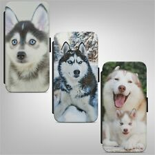 Cute Husky Dog Puppy WALLET FLIP PHONE CASE COVER for IPHONE SAMSUNG HUAWEI