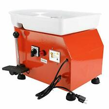 New listing 25Cm Electric Pottery Wheel Machine Lever Foot Pedal Removable Abs Basin Orange