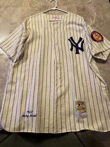 New York Yankees 1952 Mickey Mantle Mitchell&Ness Jersey Size 52 2XL