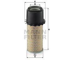Filtre à air Mann Filter pour: BENFORD, BLAW KNOX (VOLVO CE), BLOCK COMPRESSORS,