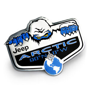 1Pcs Sticker Emblem Badge Aluminum For Jeep ARCTIC Car Body Side Rear Trunk Lid