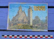 Puzzle 48 pièces église en bois de Wang (Pologne), très bon état