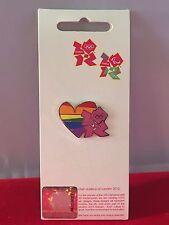 London 2012 Olympics RAINBOW HEART Enamel Pin Badge Limited Edition BRAND NEW