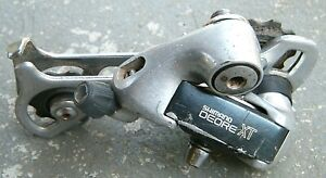 Vintage Shimano Deore XT RD-M735 Long Cage Rear Derailleur 7 Speed Mountain Bike