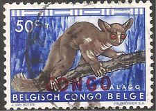 Congo Stamp - Scott #344/A93 50c Bright Ultra, Red & Sepia Canc/LH 1960