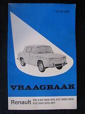 Kluwer Book Vraagbaak Renault R8 / R10 P. Olyslager (Nederlands)