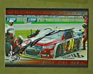 🏁 JEFF GORDON  - Autographed - 2015 Press Pass  OVER THE WALL - Card #92   [a4]