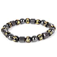 Magnetic Armband Perlen Hämatit Stein Gesundheitswesen Gewichtsverlust WJ