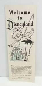 WELCOME TO DISNEYLAND 1957 BROCHURE PARK MAP INFORMATION GUIDE W/ TINKERBELL