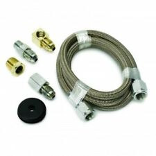 """Auto Meter 3227 Braided Stainless Steel Line, #4 Dia., 3ft. Len, -4AN & 1/8""""NPTF"""