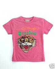 NEW Ed Hardy KIDS Rhinestone T~ SHIRT  Tiger Logo Size 8 USA GENUINE