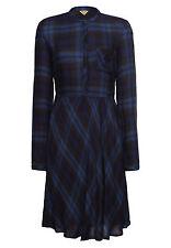 khujo Damen Kleid BERIT blau Blusenkleid Hemdkleid urban-Style SALE -60%!