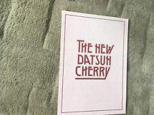 DATSUN CHERRY  BROCHURE.  1980
