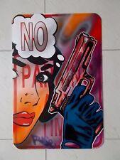 """Ruse Bad """" No Parking """"  Peinture Originale sur Panneau en métal , Graffiti Art"""