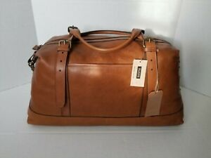 Wilsons Handcrafted Vintage Leather Duffle Travel Bag Brown Brand New