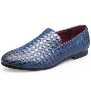 Formal Pointed Toe Party Dress Shoes Mens Business Casual Slip On Oxfords Flats