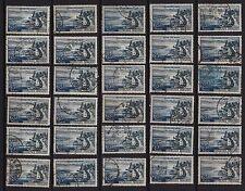 78G* x30 Timbres FRANCE pour étude (1957 EVIAN-LES-BAINS n°1131) Oblitérés