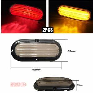 2pcs Oval LED Backup Reverse Fog Light Trailer Truck RV UT Vans Tail Light Kit