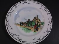 Syracuse China  OP Co hand painted coaching scene restaurant weight salad plate