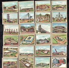 EXPO 1958 Belgian Card Set Jacques Architecture Brussels Retro Building Design