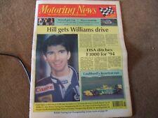 Motoring News 16 December 1992 Rick Mears BTCC & MN Tarmac Rally Review