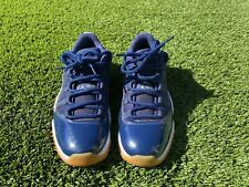 2016 Nike Air Jordan 11 XI Retro Low Midnight Navy Gum SIZE 8 528895-405