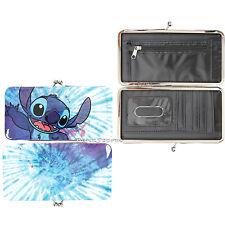 Loungefly Disney Lilo & Stitch Hawaii Tie Die Kisslock Hinge Wallet Clutch NEW