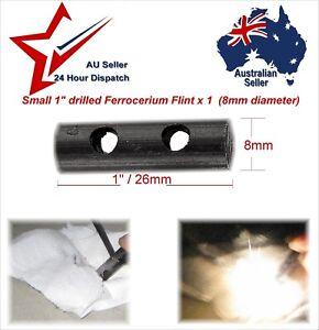 1x Small Drilled Ferrocerium Flint Fire Lighting Rods 8 x 26mm paracord bracelet
