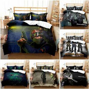 Counter-Strike 3D Bedding 2/3PCS Duvet Cover Pillowcase Bedclothe AU2F