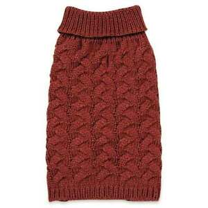 Chunky Cable Knit Dog Turtleneck Sweater Pet  Zack & Zoey Elements Apparel