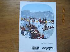 Revue Sabena Magazine N°33 Novembre 1961 Vacances d'hiver