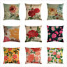 """Decorative Throw Pillow Cases Flower Linen Couch Sofa Square Cushion Covers 18"""""""