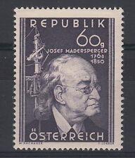 Austria 1950 Centenario Morte Inventore Josef Madersperger 1v MNH** Unificat 787