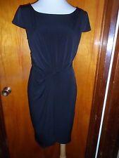 Victoria's Secret VS Black Twist Knot Matte Jersey Tulip Ruched Dress M New