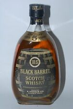 WHISKY BLACK BARREL HS BLENDED OLD SCOTCH WHISKY AÑOS 70 75cl OVER 5 YEARS OLD